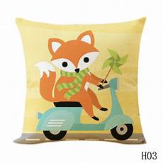 new fox animal cushion cover cotton linen car chair
