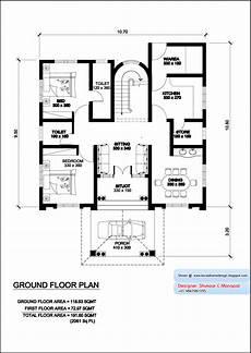 Floor Plan Of A Villa Kerala Model Villa Plan With Elevation 2061 Sq