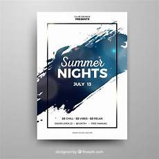 Party Poster Template Party Poster Template With Abstract Style Free Vector