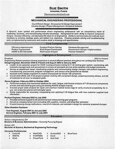 Examples Of Mechanical Engineering What Is The Best Resume Title For Mechanical Engineer