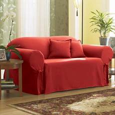 mainstays canvas sofa slipcover burgundy walmart