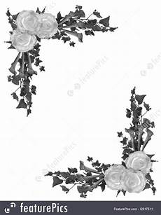 Wedding Background Black And White Templates Black And White Floral Border Stock