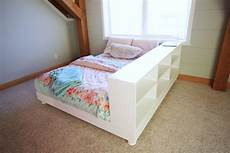 white platform bed with storage side diy projects