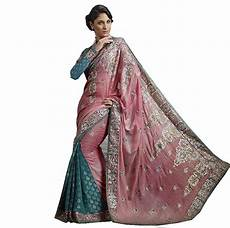pink embroidered fashion sari fancy designer cocktail