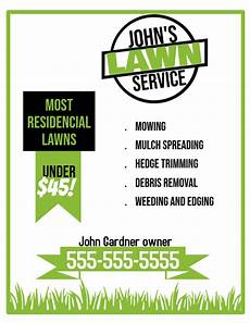 Lawn Maintenance Flyers Lawn Service Flyer Template Postermywall
