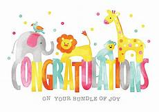 Congratulation To Your New Baby Baby Animals Congratulations Card Birth Congratulations
