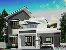 4 Bhk House Design Plans Slanting Roof Mix Modern 4 Bhk House Design Kerala Home
