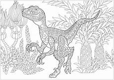 velociraptor dinosaurs coloring pages