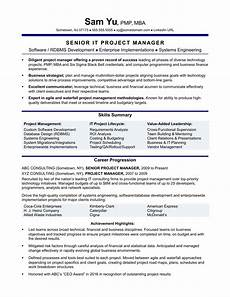 Project Management Resume Samples Experienced It Project Manager Resume Sample Monster Com
