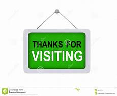 Thank You For The Visit Thanks For Visiting Sign Stock Illustration Illustration