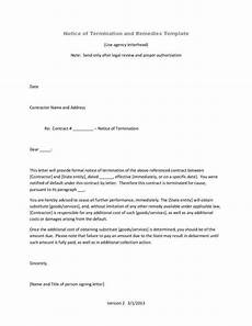 Notice Of Termination Of Contract 9 Official Termination Letter Templates Free Samples