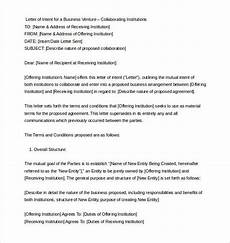 Sample Letter Of Intent Doc 9 Letter Of Intent Templates Free Sample Example Format