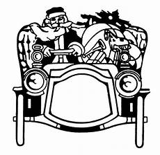 Black And White Christmas Graphics Vintage Christmas Clip Art Santa In Automobile The