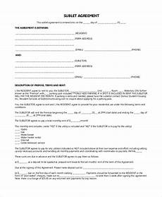 Sublet Agreement Format Free 9 Sample Sublet Agreement Templates In Pdf Ms Word