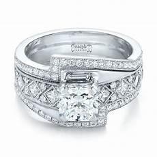 Interlocking Ring Custom Interlocking Diamond Engagement Ring 102177