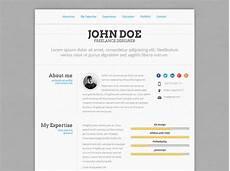 Online Resume Websites 50 Professional Html Resume Templates Bashooka