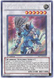 yu gi oh card prc1 en020 gravity warrior secret