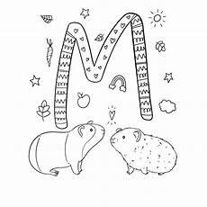 Abc Malvorlagen Instagram Ausmalbild M Wie Verliebte Meerschweinchen