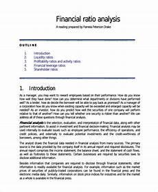 39 Financial Analysis Samples Pdf Word Free