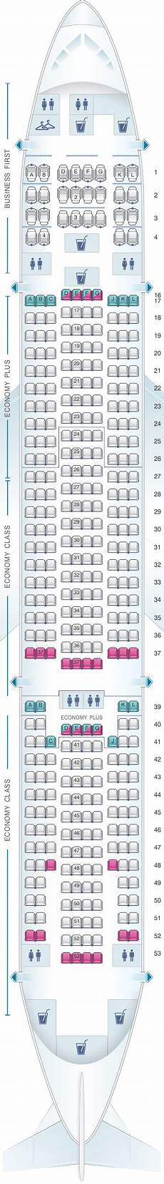 United Airlines Seating Chart 777 International Seat Map United Airlines Boeing B777 200 777 Version 5