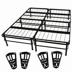 size metal platform bed frame with headboard and