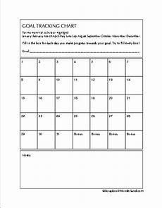 Goal Tracking Chart Goals And Organization Printables