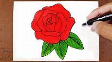 como desenhar e pintar uma rosa