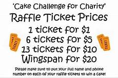 Raffle Ticket Price Raffle Cake Challenge For Charity Westfield Middle School