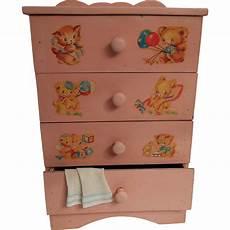 vintage 1950s bubblegum pink baby doll dresser w charming