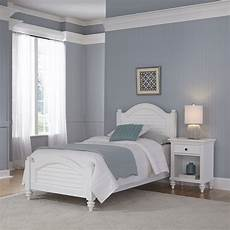 home styles bermuda white bed and stand