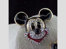 Disney Rhinestone Studded Mickey Mouse Head Jewelry Pin