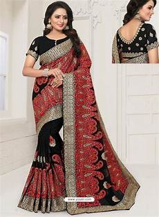 Black Georgette Designer Saree Buy Modern Black Georgette Embroidered Designer Saree
