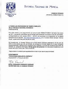 Formato De Informe Escrito Informe Anual Facultad De M 250 Sica Fam Unam
