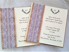 Lace Wedding Invitation Burlap And Lace Wedding Invites Rustic Wedding Invites 163