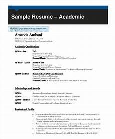 Academic Cv Format Download 10 Academic Curriculum Vitae Templates Pdf Doc Free