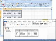 Spreadsheet In Excel How To Create Tables In Microsoft Word Pcworld