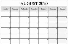 August 2020 Calendar With Holidays August To December Calendar Template 2020 Example