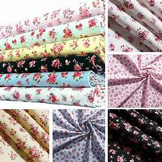 floral fabric 100 cotton material vintage shabby