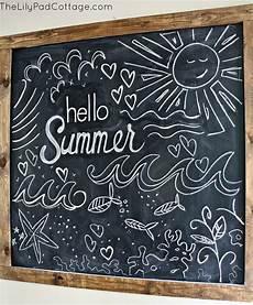 Cute Chalkboard Designs Hello Summer Summer Chalkboard The Lilypad Cottage