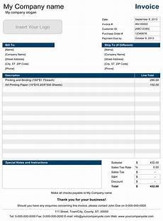 Excel Invoice Template For Mac Download A Free Basic Invoice Template For Microsoft
