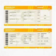 Airline Ticket Template Free Airline Tickets Template Design Vector 03 Free Download