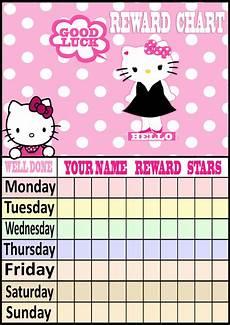 Hello Kitty Potty Training Chart Daily Children Reward Charts Hello Kitty Birthday
