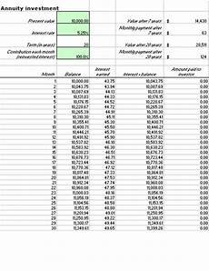 Investment Calculator Excel Annual Financial Report Office Templates