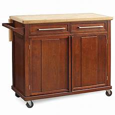 rolling kitchen island buy real simple 174 rolling kitchen island in walnut from bed