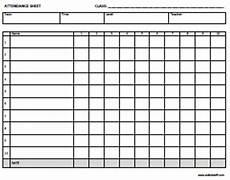 Blank Attendance Sheet For Teachers Esl Certificates Lesson Plan Templates Attendance Sheets