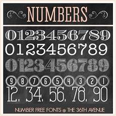 Fonts For Numbers The 36th Avenue Number Free Fonts The 36th Avenue