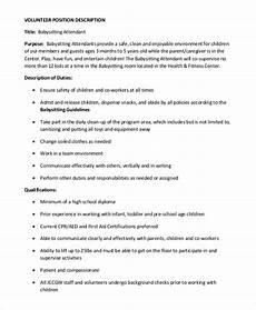 Babysitter Responsibilities Resume Babysitter Resume Job Description Mryn Ism