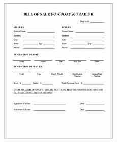 Sample Bill Of Sale For Trailer Sample Boat Bill Of Sales 9 Free Sample Example Format