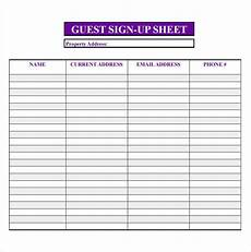 Guest Sign In Sheet Template Free Open House Printable Sign In Sheet Yahoo Image