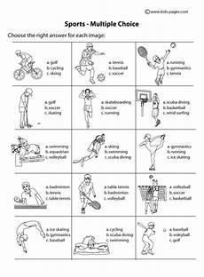 Sports Multiple Choice B Amp W Worksheet